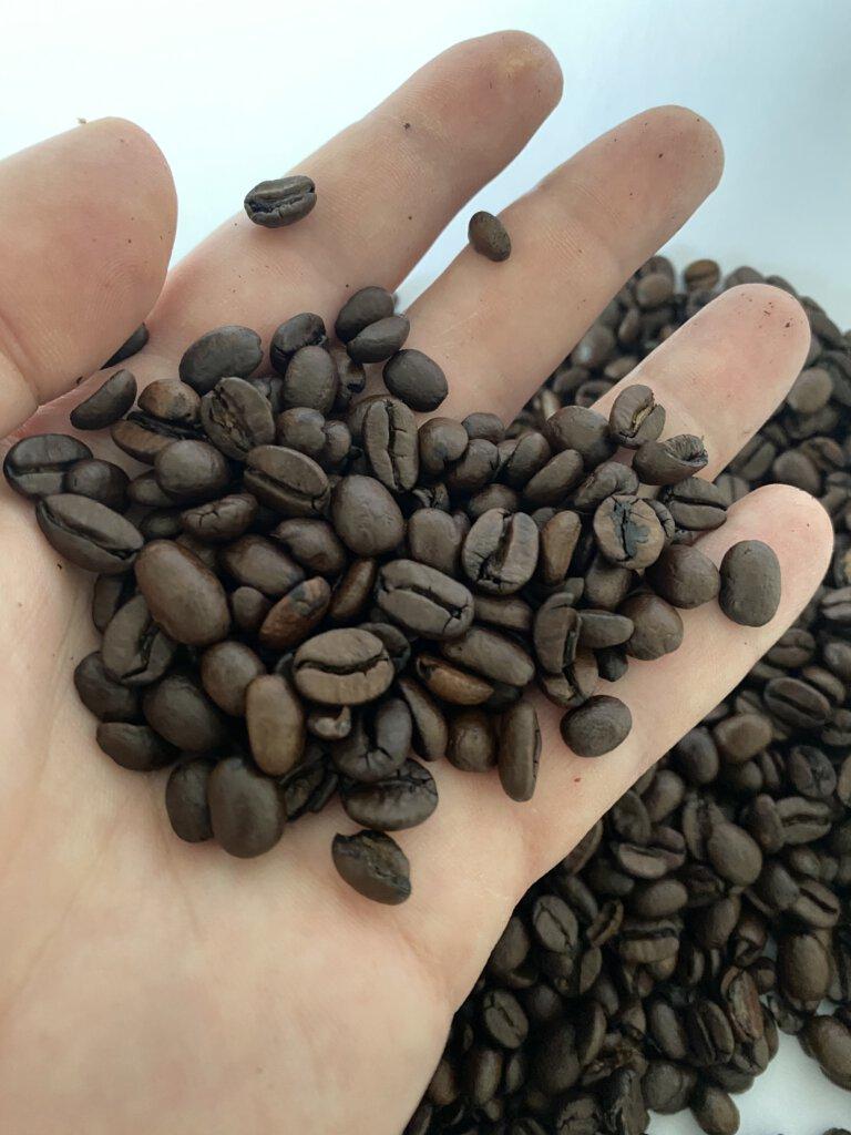 kávové zrno po upražení