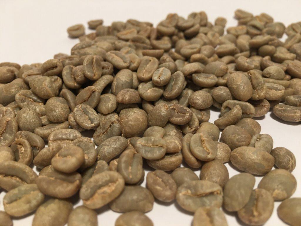 zelená kávová zrna