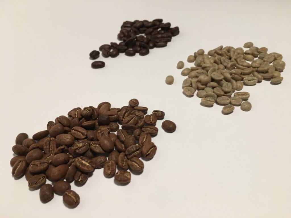 porovnání kávových zrn
