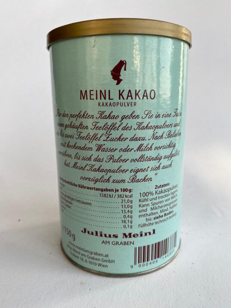 kakao krabička složení