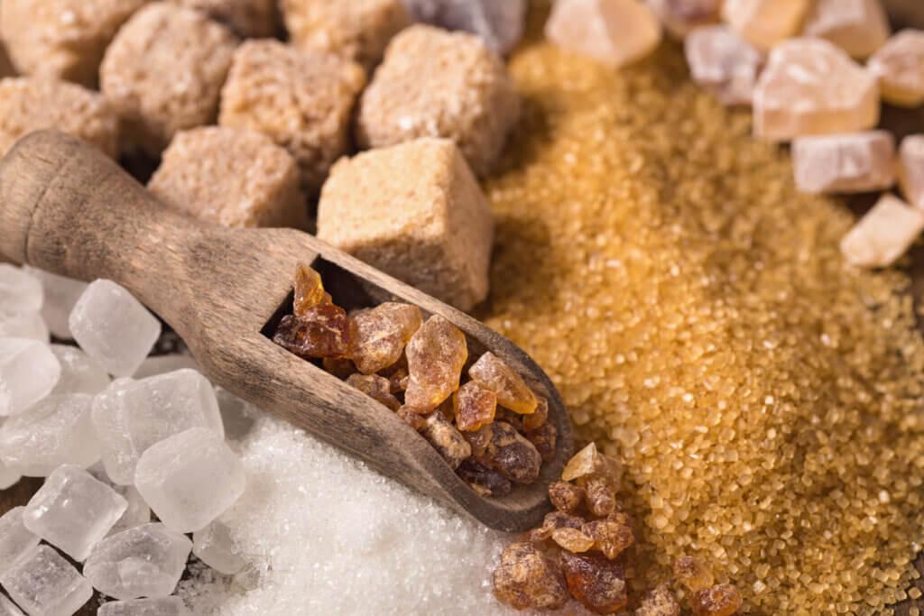 Různé druhy cukrů